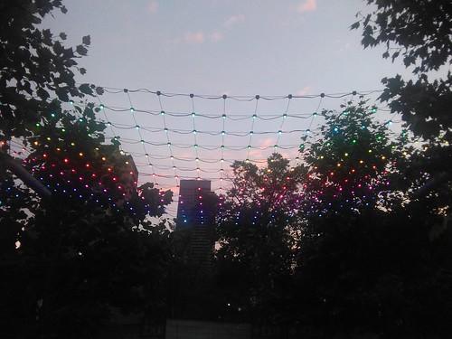 Rainbow lights and sky