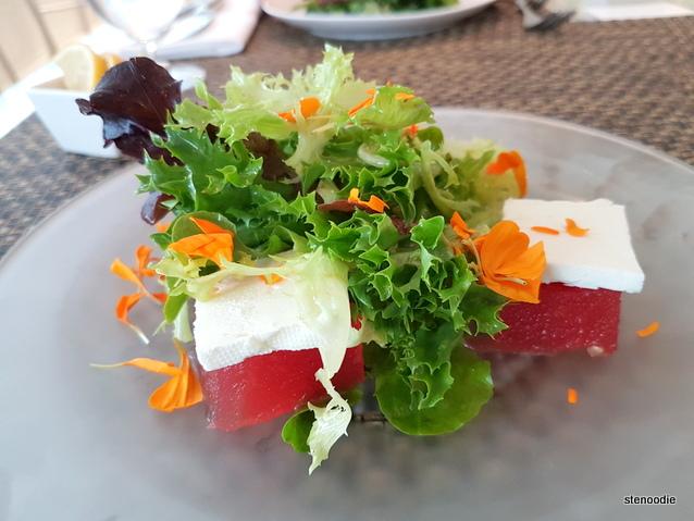 Compressed Watermelon & Feta Salad