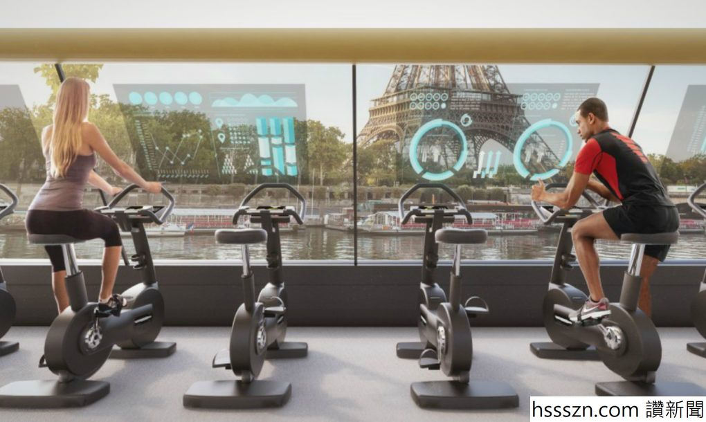 Floating Paris gym uses human energy to cruise down the Seine River (2)_1020_610