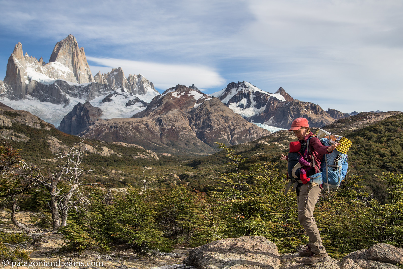 Hang on there. Pic from day 38 on the 6-week adventure. Fitz Roy range. Parque Nacional Los Glaciares. Santa Cruz. Patagonia. Argentina.