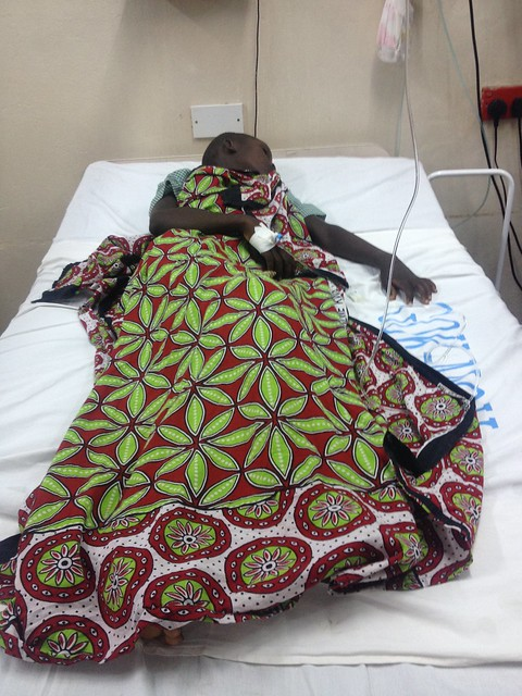 Zainabu in hospital