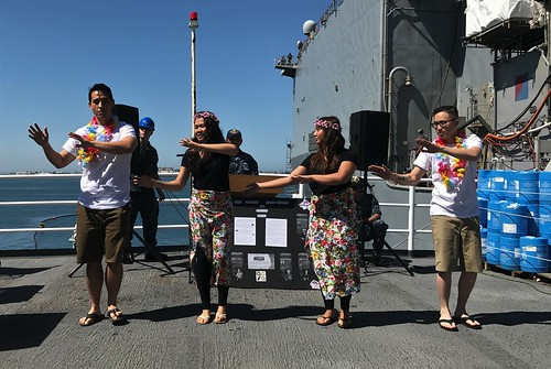 SAN DIEGO – Dock landing ship USS Harpers Ferry (LSD 49) joined their counterparts navy-wide throughout May to celebrate the 2017 edition of the Asian American and Pacific Islander (AAPI) Heritage Month.