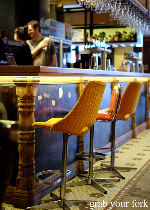 Barstools at the Lansdowne Hotel in Chippendale Sydney