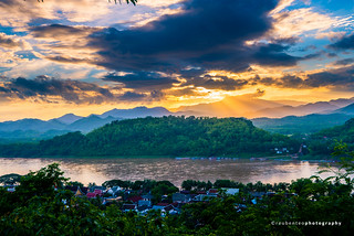 Sunset of Luang Prabang | by reubenteo