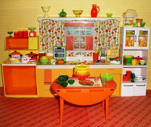 Yellow And Orange Kitchen: Orange/yellow/green Kitchen 1/6 Scale 1 Of 6