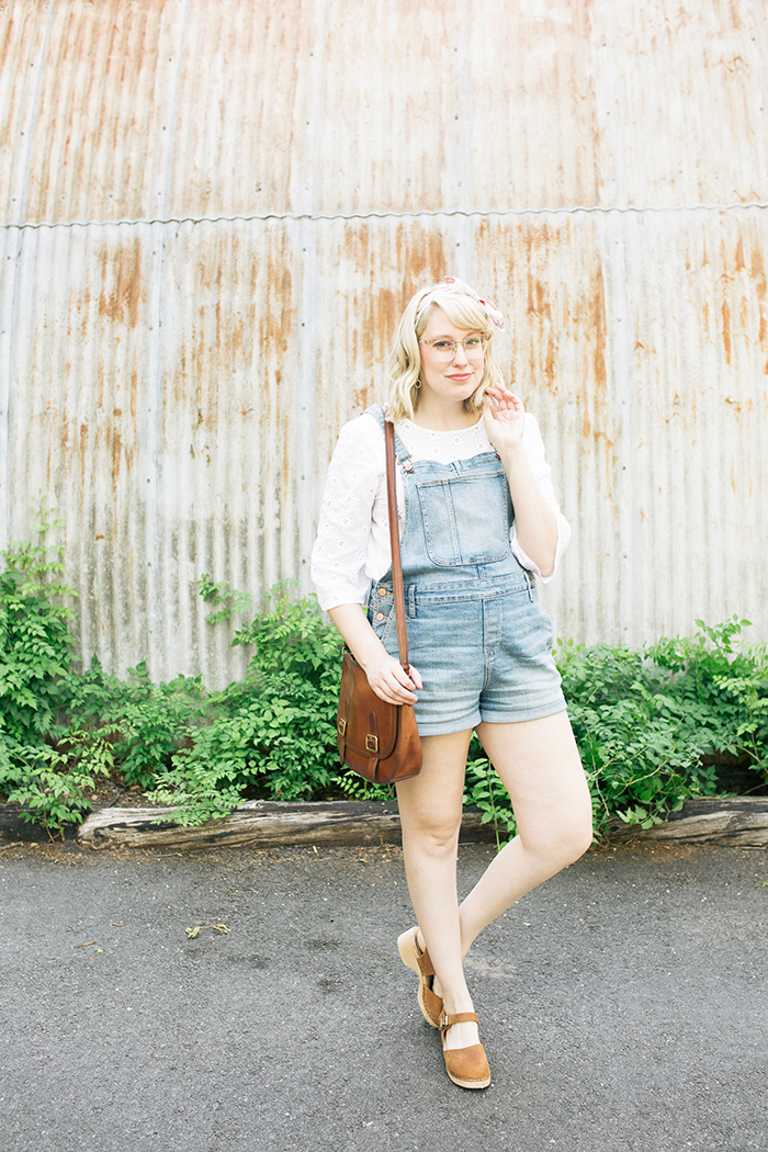 austin style blogger writes like a girl overalls clogs4