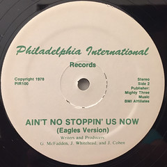 MCFADDEN & WHITEHEAD:AIN'T NO STOPPIN' US NOW(PHILLIES VERSION)(LABEL SIDE-B)