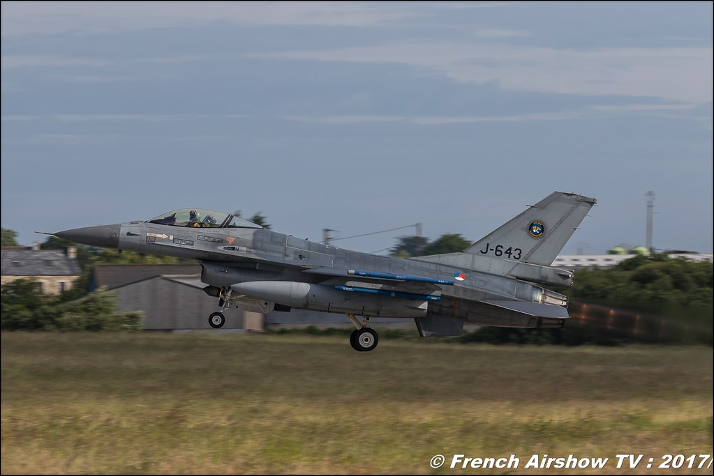 F-16A/B MLU Fighting Falcon , 313 sqn (RNlAF) , , Nato Tiger Meet landivisiau 2017 , NTM2017 ,Spottersday Nato Tigers , Harde to be humble , bretagne
