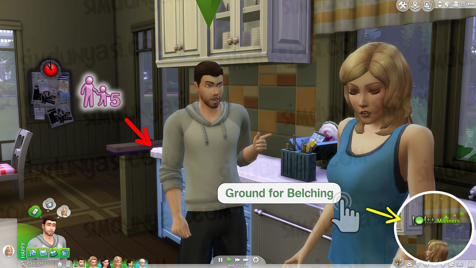 The Sims 4 Parenthood Ebeveynlik Paketi Ground Cezalandırma