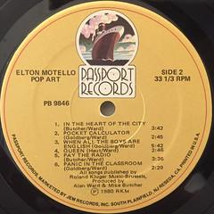 ELTON MOTELLO:POP ART(LABEL SIDE-B)