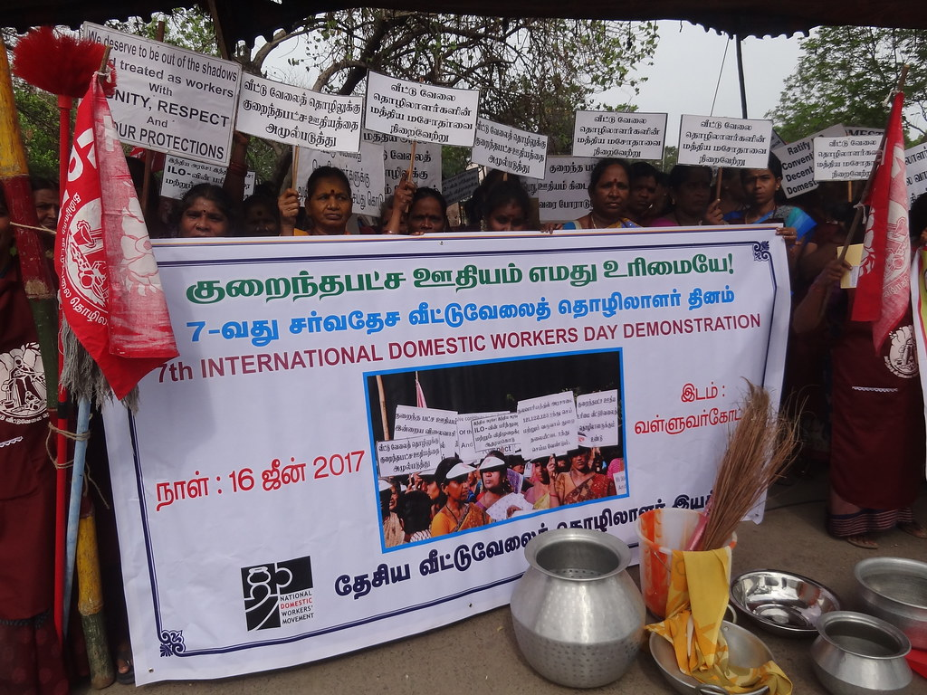 2017-6-16 India: NDWF demonstration on the IDWD
