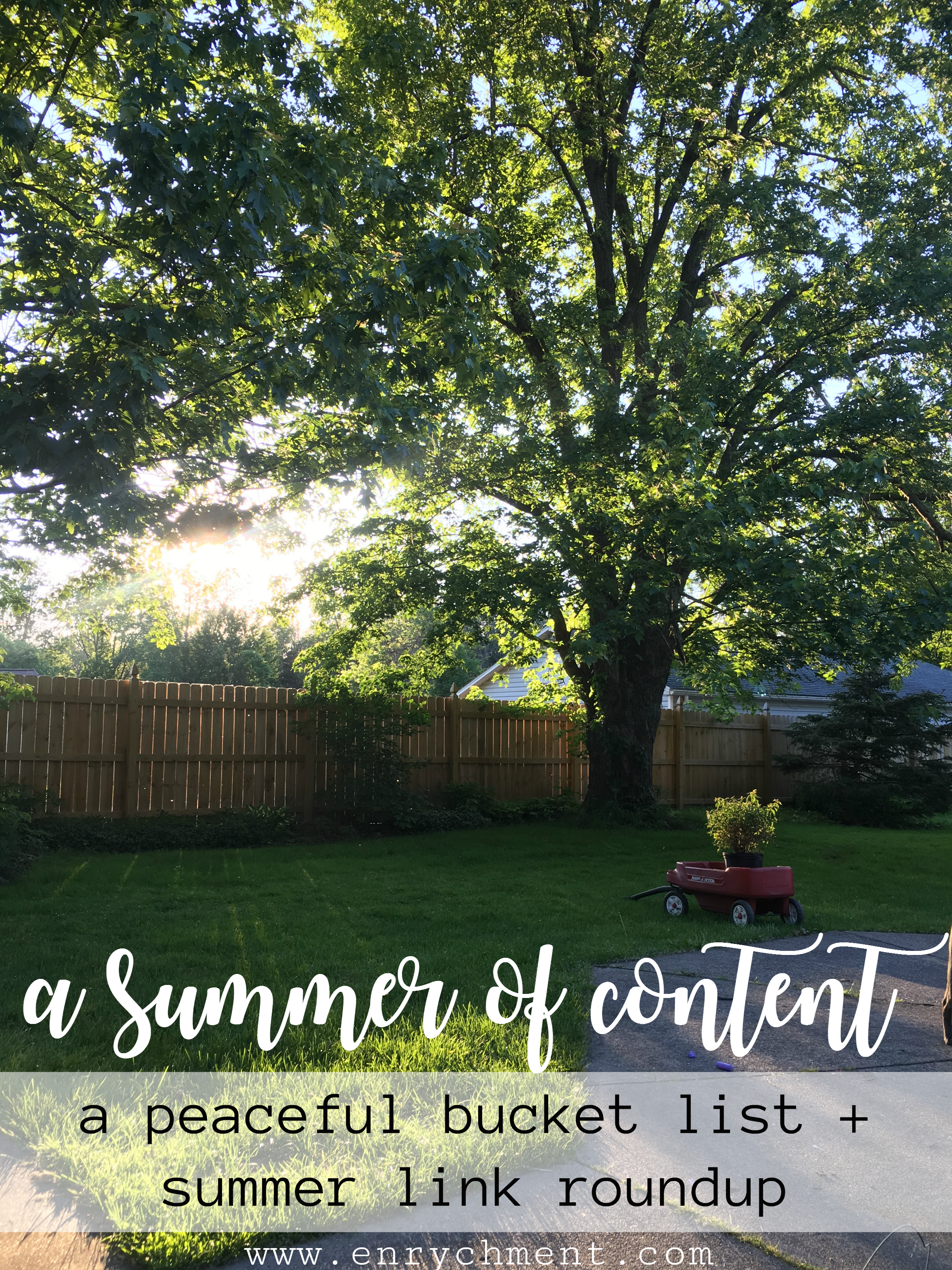 A summer of content: our bucket list and a roundup of summery links!