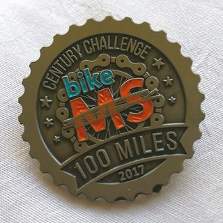 Bike MS Century Challenge medal