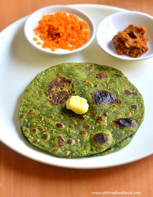 Palak chapati recipe