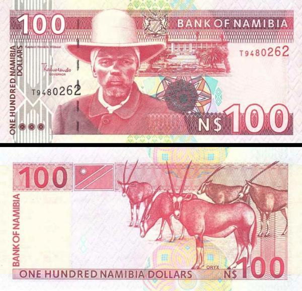 100 dolárov Namíbia 2003, P9a