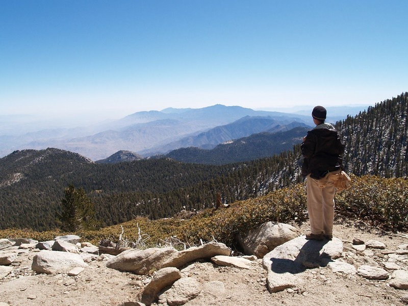 We get to check out the great view south as we descend from San Jacinto Peak