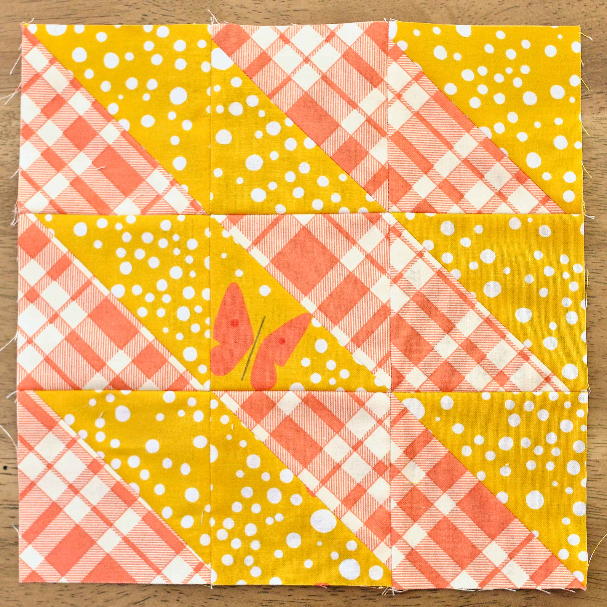 The Fussy Cut Sampler QAL Block 24