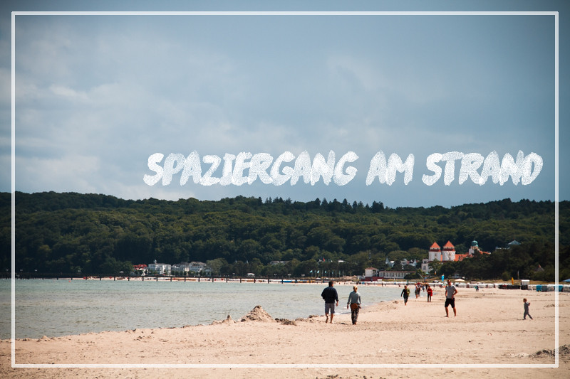 Spaziergang am Strand Ostsee