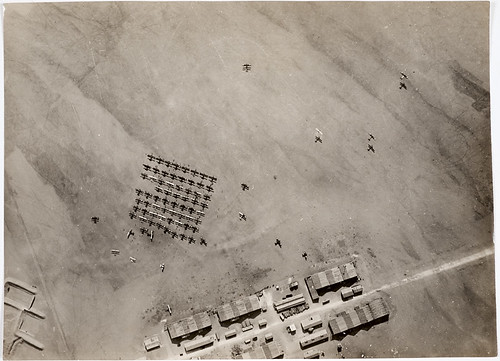 Photogapher-unknown-Aerial-view-of-British-Royal-Air-Force-aircraft-taking-off-in-the-deserts-of-Palestine