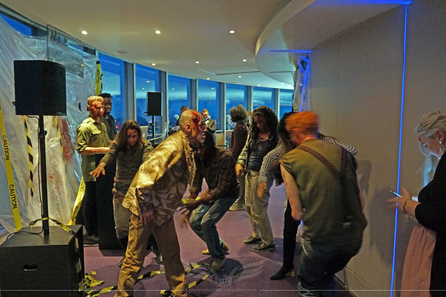 The Establishing Shot: FEAR THE WALKING DEAD LAUNCH –  ZOMBIE WALKERS DO THE MONSTER MASH @ TOP OF BT TOWER