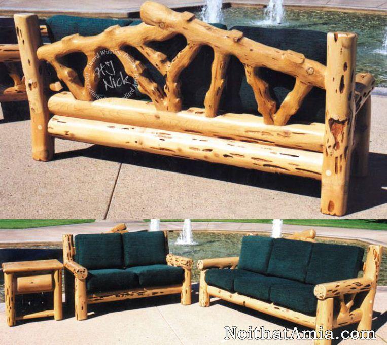 Khi có trong nhà những gốc gỗ đẹp hãy tự tay đóng bộ ghế sofa gỗ cho mình
