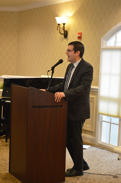 GenMtgMayLunch2017_0030; Dr. Gregory Geehern of the Princeton Festival talking about the festival.
