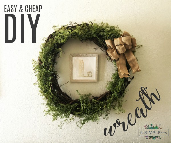 easy and cheap wreath