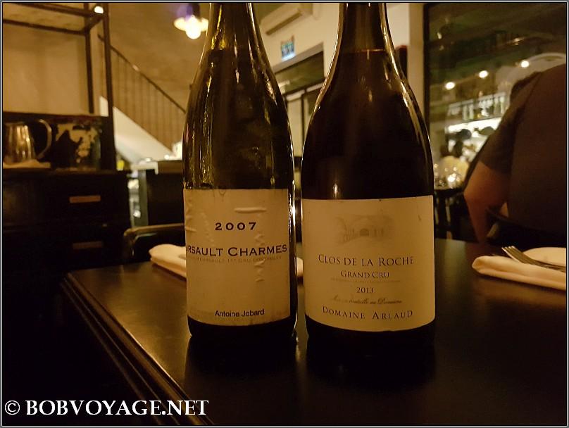 Jobard Meursault Charmes 2007 ו-  Domain Arlaud Clos de la Roche 2013 ב- לולו - Lulu Wine & Food