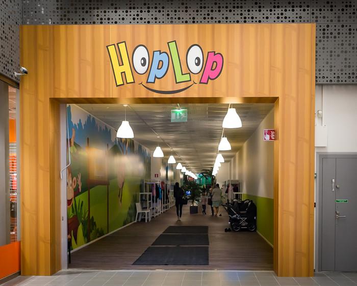 HopLop Suomenoja Espoo sisäänkäynti kauppakeskus Meritähti