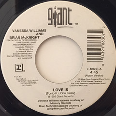 VANESSA WILLIAMS AND BRIAN MCKNIGHT:LOVE IS(LABEL SIDE-A)