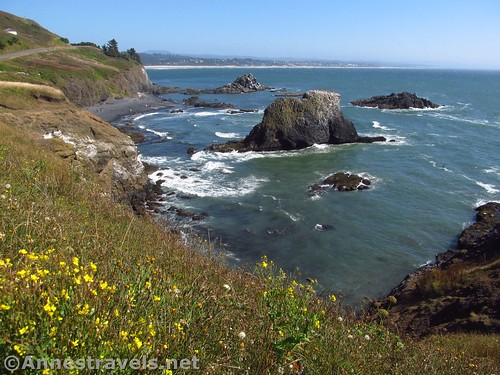 Looking south from the Yaquina Head Lighthouse near Newport, Oregon