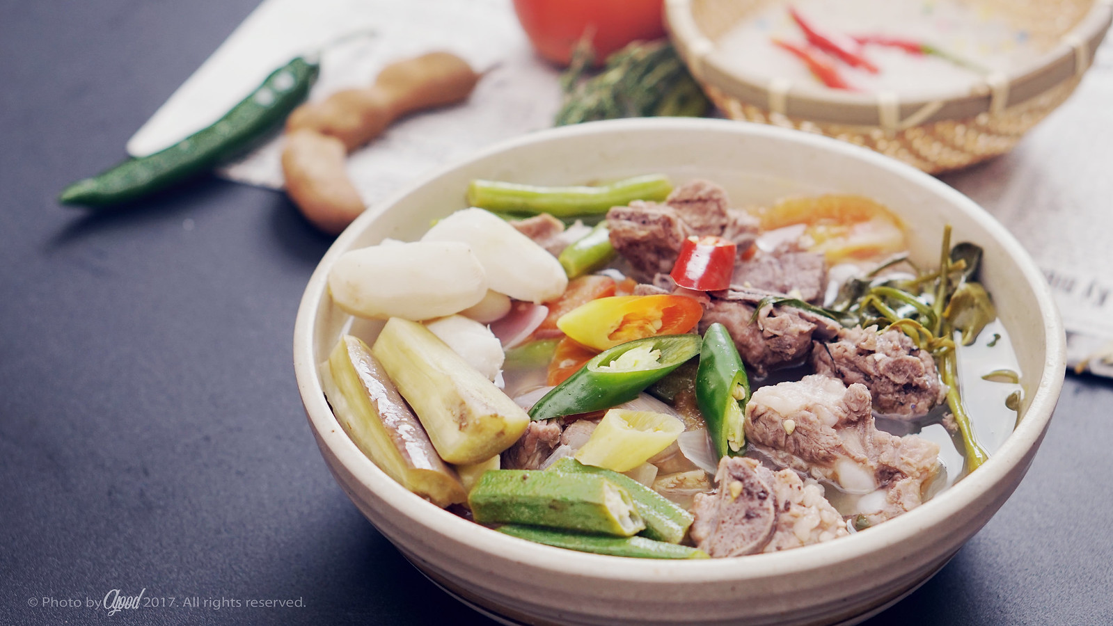Pork Sinigang – Philippines hot and sour pork ribs soup