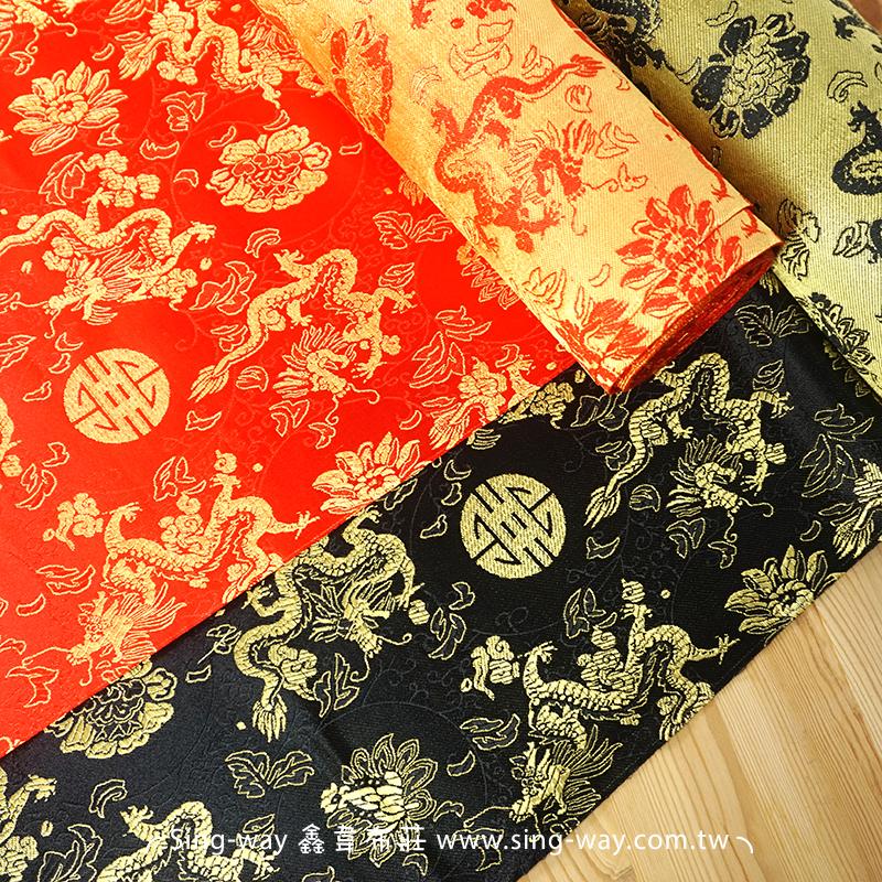 金喜龍 展覽場節慶裝飾佈置 旗袍 中國服裝裝飾布料 T690055