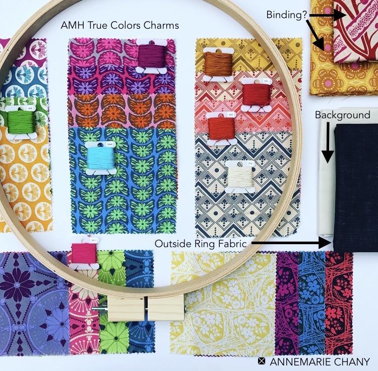 HOOP QUILTAlong AMH fabrics