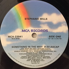 STEPHANIE MILLS:SOMETHING IN THE WAY(YOU MAKE ME FEEL)(LABEL SIDE-A)