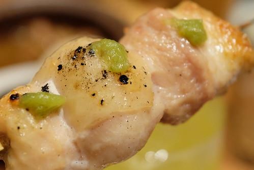 かずさ地鶏のもも串 おろし満願寺唐辛子
