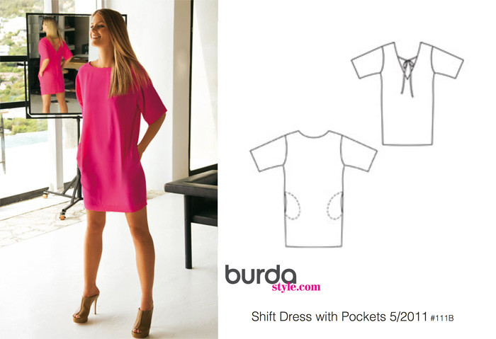 Burdastyle Shift dress 05-2011 111B