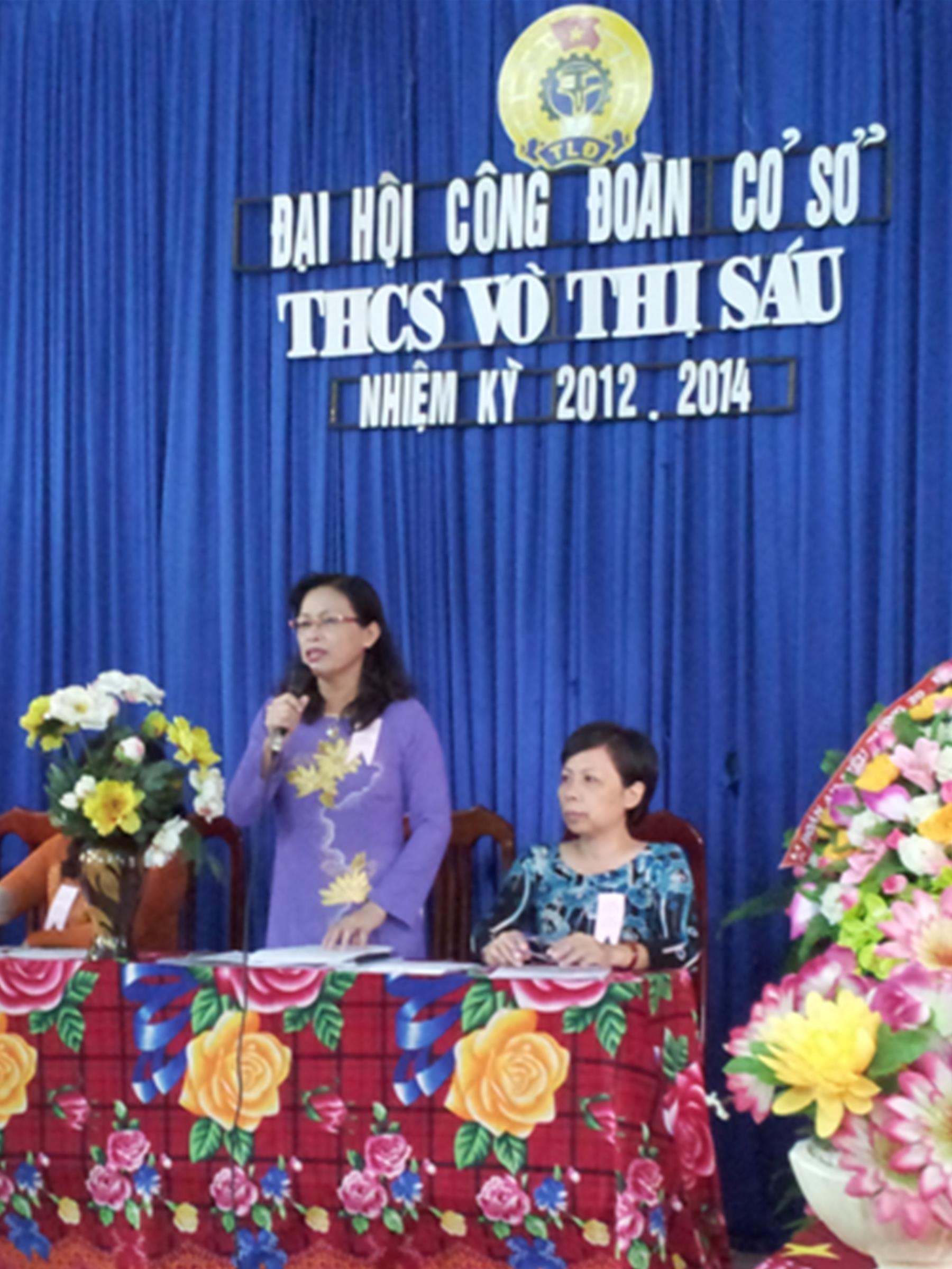 Đại hội Công Đoàn Trường THCS Võ Thị Sáu