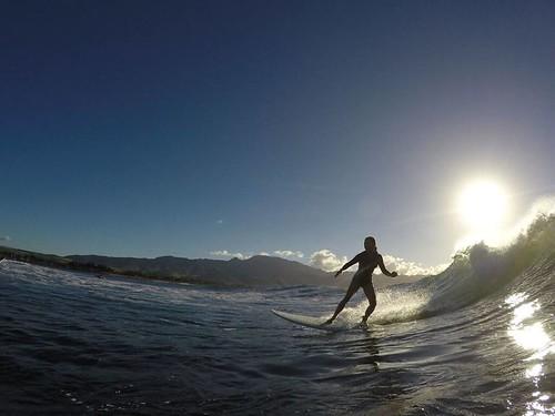 Leslie surfing