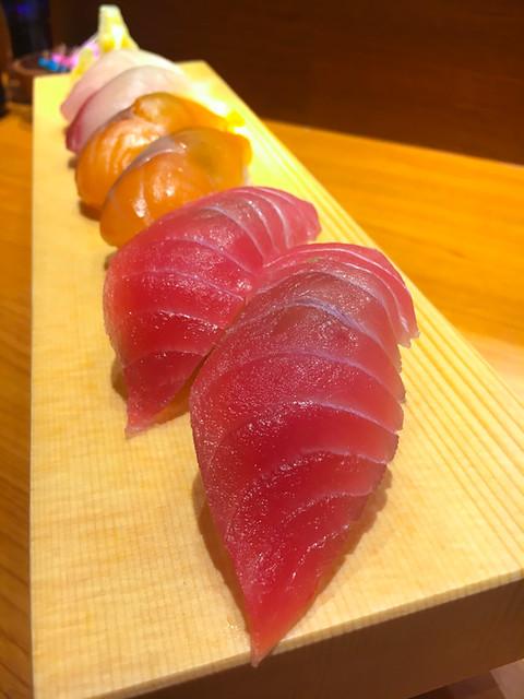 TOUAN Yakitori & Robata - SUSHI - 3 types - Tuna, Salmon and Kanpachi
