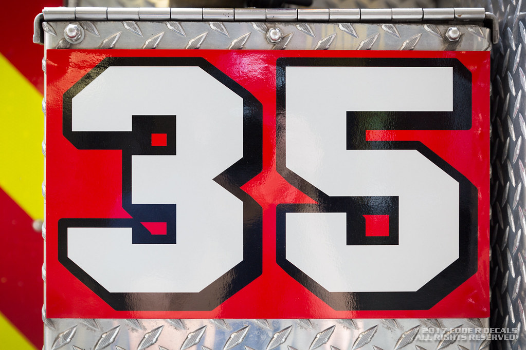 La County Fire Engine 35 Rig Magnet Code R Decals Flickr
