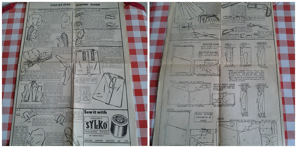 vintage instructions