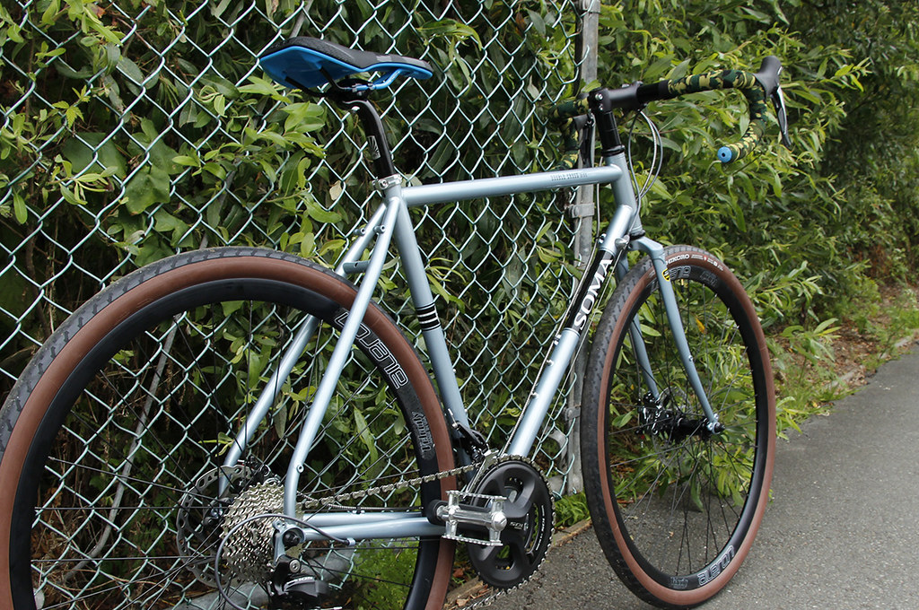 White Tire Paint >> Soma Double Cross Disc 2017   Paint: Sky Silver Revamped wit…   Flickr