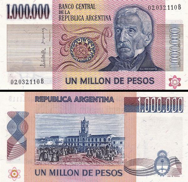 1 000 000 Pesos Argentína 1980, P310