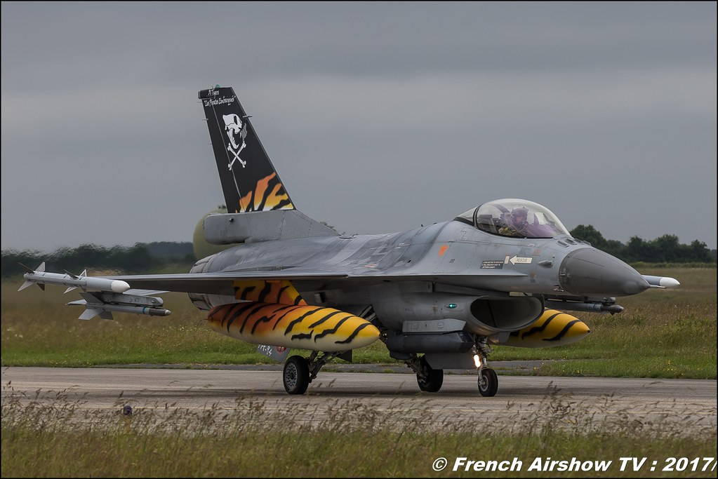 F-16A/B MLU Fighting Falcon , 31 smd 31 Smaldeel (BAF) , Nato Tiger Meet landivisiau 2017 , NTM2017 ,Spottersday Nato Tigers , Harde to be humble , bretagne