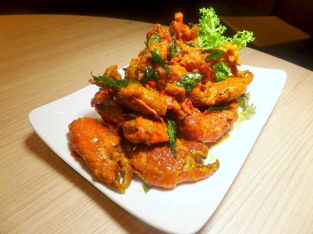 Salted Egg Crab With Curry Leaves