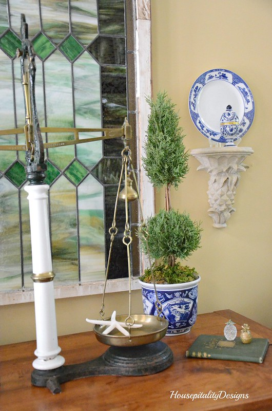 Blue and White Summer Vignette-Housepitality Designs