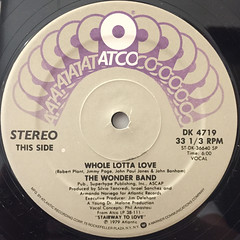 THE WONDER BAND:WHOLE LOTTA LOVE(LABEL SIDE-A)