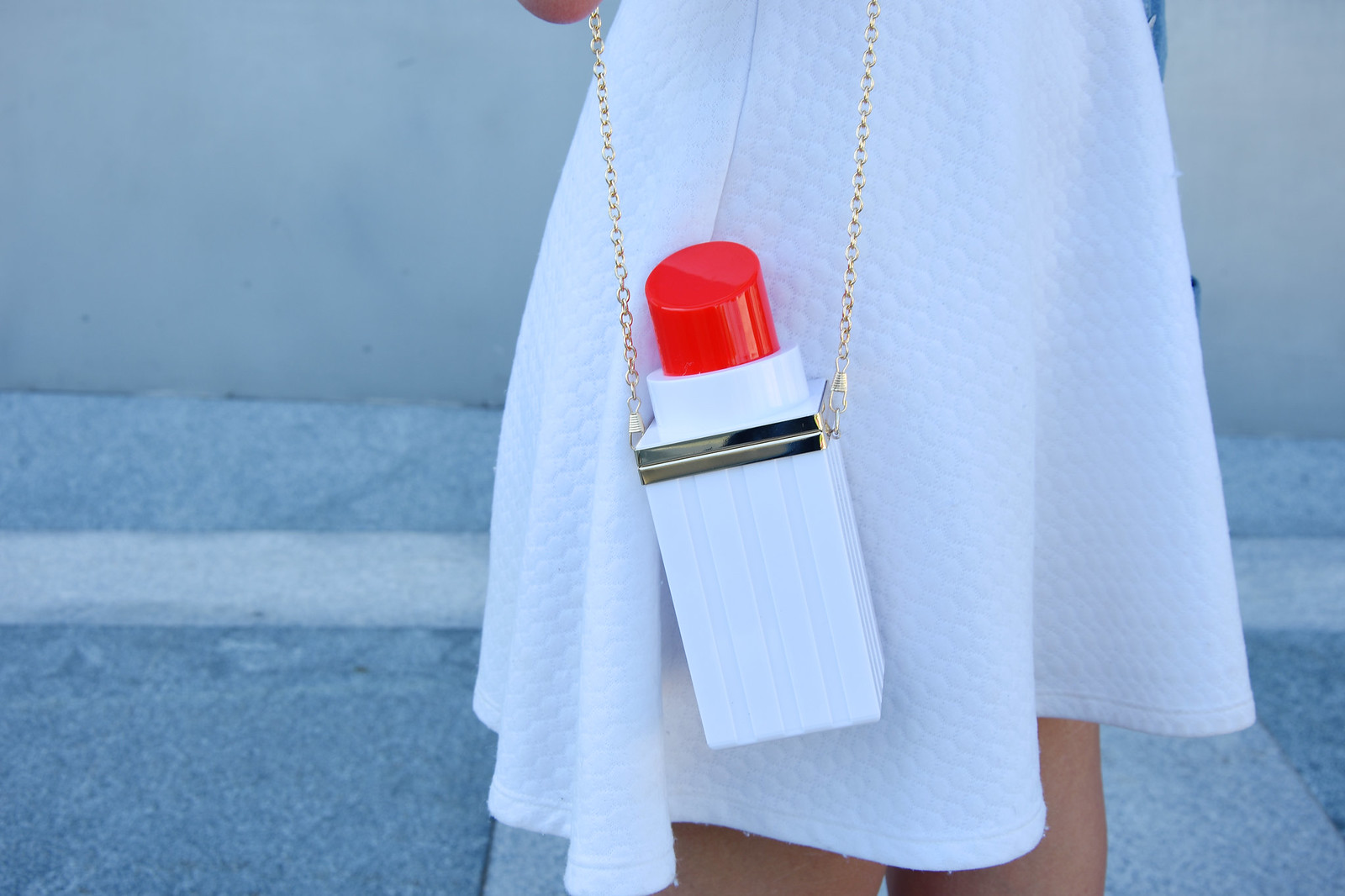 Lipstick shaped bag