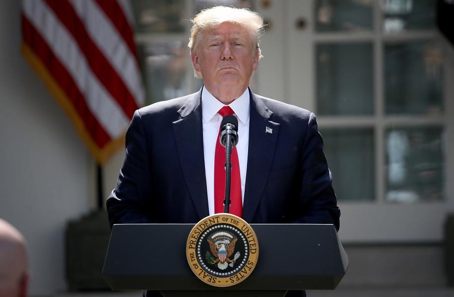 6月1日,美國總統川普向全球宣布,美國退出《巴黎氣候協定》。圖片來源:Win McNamee, Getty Images。